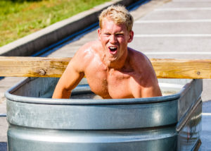 Ice Bath Obstacle at the Emerald Coast MudRun for Orphans